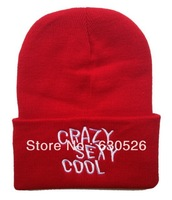 12pcs/lot  Crazy Sexy Cool  Beanie Crazy Sexy Cool  Hats Crazy Sexy Cool  caps Black Red Blue  custom Beanies by factory