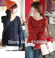 New sale winter Knitting Sweater Women's pullovers/fashion good quality thick warm twist sweater Ladies's tops/WOJ