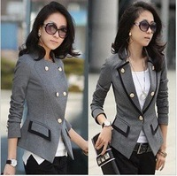Free shipping 2013 New hot Fashion Casual Cozy women ladies clothes Coat Jackets blazer suit Outwear OL long-sleeved Ms. suit