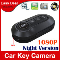 Full HD 1080P IR Night Vision Mini Car Key Camera 1920x1080 Motion Detection Mini Camera DVR Free Shipping