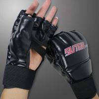 1pair/lot High Quality MMA Fighting Boxing Gloves Muay Thai Wrestling Gloves Training Sandbag Boxing BG2012