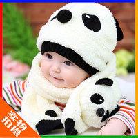 Winter baby hat child hat cotton hat baby hat scarf twinset