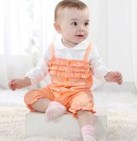 Infant jumpsuit baby bodysuit long design spring and autumn 100% cotton romper open file romper