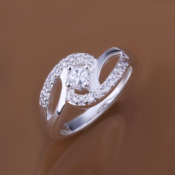 Women Wedding 925 Silver CZ Diamond Ring Wholesale High Quality Low Price Jew