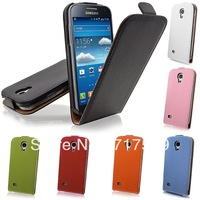 100pcs/lot high quality Vertical Flip Case Cover Various Colours for Samsung galaxy SIV I9500 free shipping