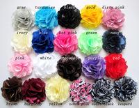 Free Shipping 50Pcs/Lot 2015 hot sales fabric gauze flower handmade DIY chiffon flower hair accessories for baby girls headbands
