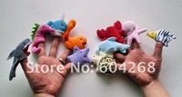 Free Shipping Ocean Cartoon Animal Finger Puppet,Finger toy,finger doll,baby dolls,Baby Toys,Animal doll (10pcs/bag)