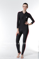 Free shipping colorful wetsuits wetsuit swim neoprene women swimming suit womens suits diving suit