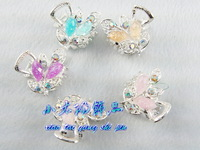 Leaves rhinestone cute hairpin small gripper hair pin clip bangs clip hair accessory hair accessory x0010
