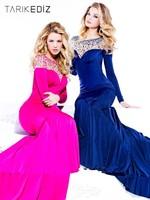 2014 Latest Style Custom Made Jewel Beaded Chiffon V-Back Long Mermaid Prom Dresses
