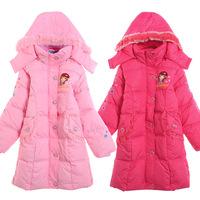 Children's clothing winter female child outerwear wadded jacket down coat liner 2013 child cotton-padded jacket medium-long 8275