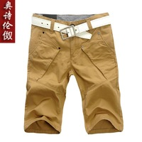 free shipping 2013 summer men's capris casual shorts tooling men's shorts knee-length pants