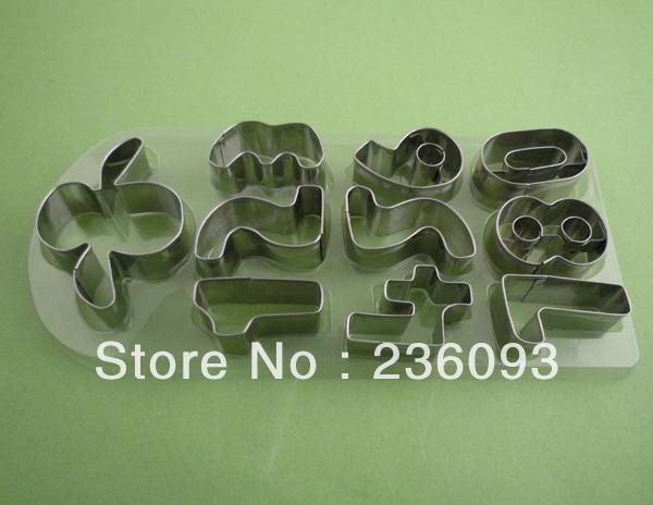 Nova Mold 10Pcs/Set Cookie Cutter Número Shapes Biscuit(China (Mainland))