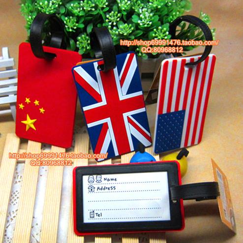 Free shipping Card case national flag luggage tag bus card sets luggage tag(China (Mainland))