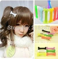Free Shipping!Wholesale 50pcs/lot Novelty Halloween Dog Bone Hair Clip Hairclip Womens Hair Accessories