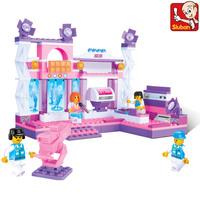 Sluban M38-B0252 176pcs eductional plastic Building Block Sets Girl Dream Lighting Stage Car children toys Christmas Gifts