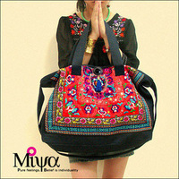 National trend female bags embroidery messenger bag canvas bag