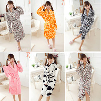 Free Shipping Adult Anime Costume Pajamas Nightgowns Women Winter Sleep Set Dressing Gown Warm Sleepwear Robe Bathrobe A0430