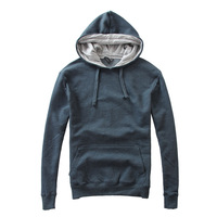 Fashion comfortable soft basic with a hood sweatshirt brief plain all-match men's clothing fleece sweatshirt hoodie