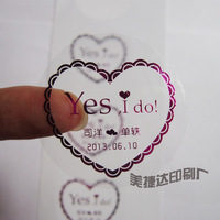 Transparent sticker Customized label printing  1000 pcs/lot