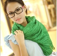 Autumn and winter female solid color pleated fluid ultra long candy color silk scarf 180*100cm