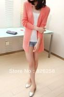 New 2013 Ubiquitous1 hot-selling bordered V-neck cardigan medium-long wave sweater long cardigan free shipping