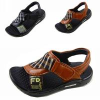 2013 plaid genuine leather boys shoes sandals boy sandals 21 - 25