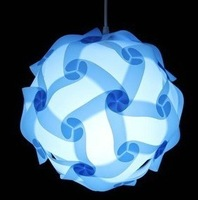 jigsaw lamp puzzle lamp iq lamp  400mm 10 sets blue color