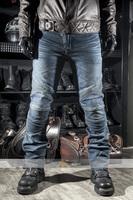 BLACK/BLUE Slim straight fit Pants CE Motorcycle motorcross Racing Biker Jeans pads Pants R2  Leisure Cultivate Locomotive jeans