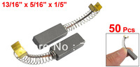 50 Pcs 20 x 8 x 5mm Replacing Part DC Electric Motor Carbon Brush D178