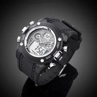 Xmas Gift Analog & Digital Day-Date Alarm Stopwatch Mens Wrist Sport Watch Multi Color