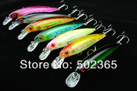 8pc Top Quality 8 colors fishing tackle 11CM/13.4G Minnow Lures,Crank Lures fishing lure fishing bait (MI027) free shipping