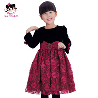 Princess children's clothing female child autumn 2013 puff skirt princess dress long-sleeve dress skirt