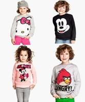 2013 new style ,5pcs/lot Bow Minnie baby girls cartoon clothing long sleeve t shirt children's sweatshirts free shipping