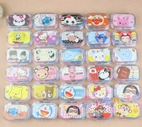 Cartoon mini contact lenses box mate box nursing box water box hot-selling