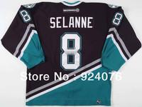 2006-07 Teemu Selanne Ice Hockey Anaheim Ducks #8 Game Worn KOHO Jersey - Customized Any Number & Name Sewn On (XXL-6XL)