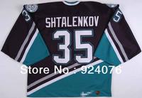 1997-98 Mikhail Shtalenkov Ice Hockey Anaheim Mighty Ducks #35 Game KOHO Jersey - Customized Any Number & Name Sewn On (XXL-6XL)