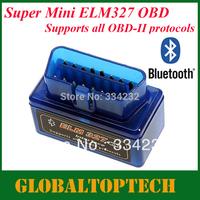 DHL Free!!!2013 New Super Mini ELM327 Bluetooth OBD mini elm 327 bluetooth for Android Torque work with ELM327 Car Scanner 30pcs