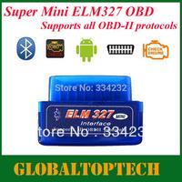 Free Shipping!!! 2013  A+qualtiy New version diagnostic tool code reader V1.5 blue color super mini ELM327 Bluetooth OBD-II OBD2