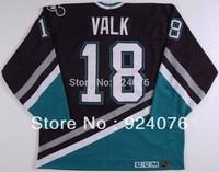 1993-94 Garry Valk Ice Hockey Anaheim Mighty Ducks Game #18 KOHO Jersey FGW - Customized Any Number&Name Sewn On (XXL-6XL)