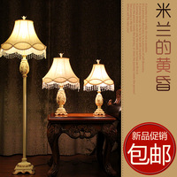 supernova sale Fashion rustic fabric lamp resin floor lamp sculpture light bulb  free shipping
