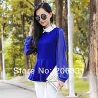 Factory wholesale High quality Women Formal Fit Chiffon Blouses Top Vest Shirts Trendy Shirt