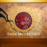 Original Modern palette knife Heavy Texture Impasto Hand oil painting,huge 48''x36'' palette knife painting  Zen Blossom