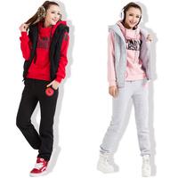 Women Autumn & winter fashion sweatshirt hoodie set, thickening leisure sports Hoodie (hoody,panty,vest) 3pcs sets,Free shipping