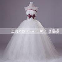 2013 new fashion sexy bow wedding dress tube top bandage sweet princess wedding dress ball gowns
