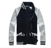 Free Shipping New Style 2013 autumn and winter Men clothes polo new zipper cardigan Casual cotton sweater fashion jacket y655