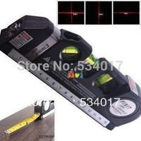 Genuine Laser Level Wire Infrared Cross Line Laser Rulerl Tape Measure 2.5 Meter Aluminum Seat Cross Line Device