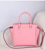 Brand Name 2013 Fashion Women Handbags High Quality Designers Shoulder Bags for woman leather genuine handbag hobos Rivet totes
