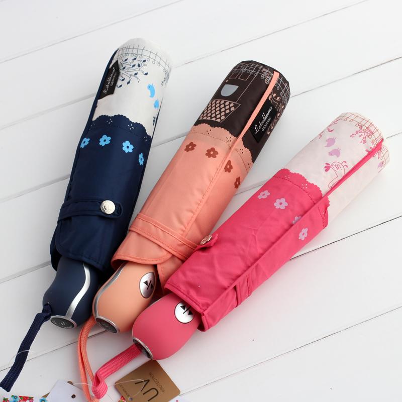 Rabbit rustic umbrellas double layer scalloped fully-automatic umbrella sun umbrella sun protection umbrella(China (Mainland))