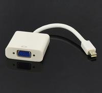 Thunderbolt Port Mini DisplayPort to VGA Adapter TV AV Cable For Macbook Air Pro White + Free Bag